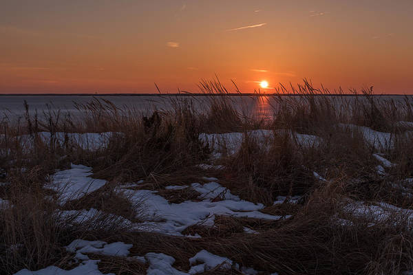Photograph - Snow Dune Sunset Seaside Park Nj by Terry DeLuco