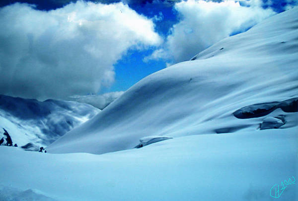 Photograph - Snow Face In The  Mountain by Colette V Hera  Guggenheim