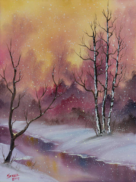 Wall Art - Painting - Winter Enchantment by Chris Steele