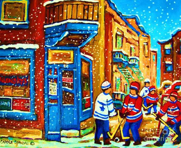 Painting - Snow Falling On The Game by Carole Spandau
