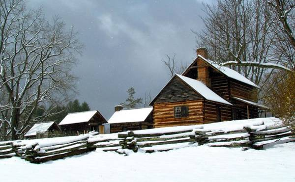 Photograph - Snow Falls On The Homestead by Carol Montoya