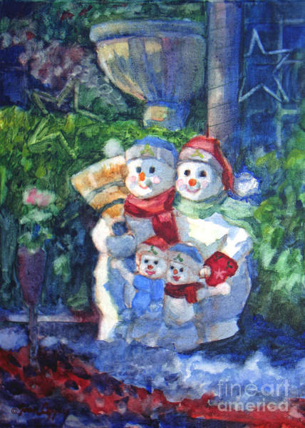Painting - Snow Family by Joan Coffey