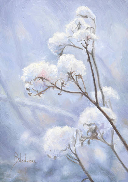 Wall Art - Painting - Snow Flowers by Lucie Bilodeau