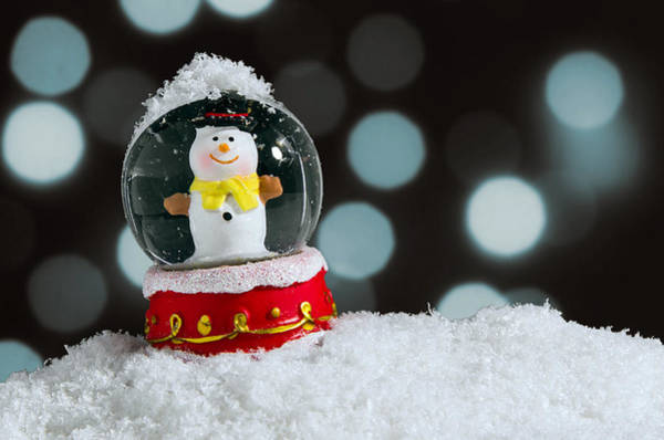 Flake Photograph - Snow Globe by Carlos Caetano