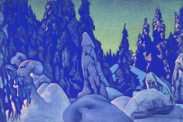Nk Roerich Painting - Snow Guardians by Nicholas Roerich