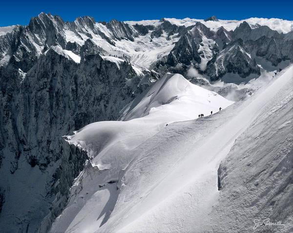 Mont Blanc Wall Art - Photograph - Snow Hikers by Joe Bonita