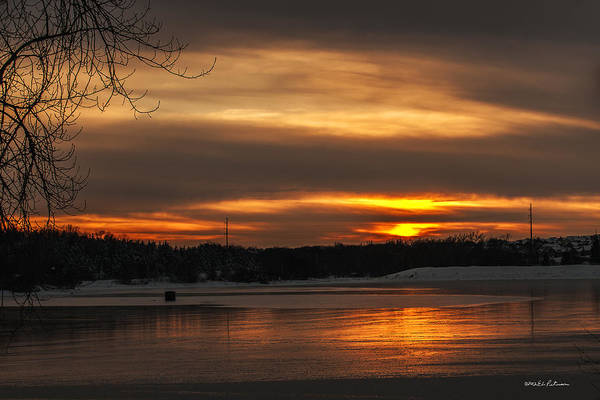 Photograph - Snow Ice And Sunset by Edward Peterson