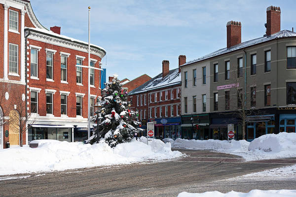 Wall Art - Photograph - Snow In Downtown Portsmouth by Eric Gendron