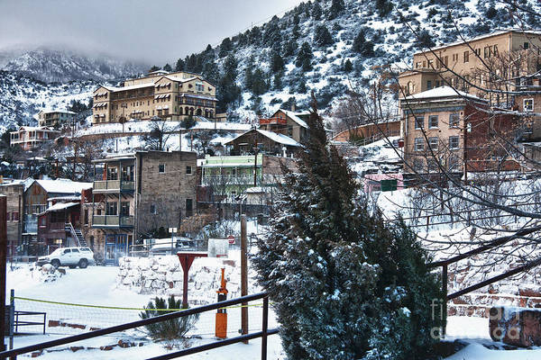 Photograph - Snow In Jerome Arizona by Ron Chilston