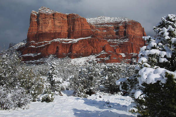 Wall Art - Photograph - Snow In Sedona by Donna Kennedy