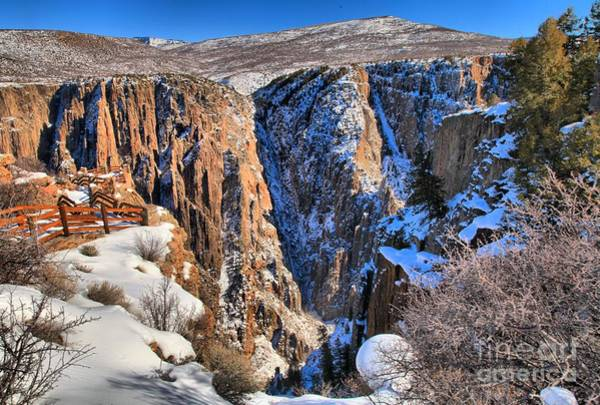 Photograph - Snow In The Black Canyon by Adam Jewell