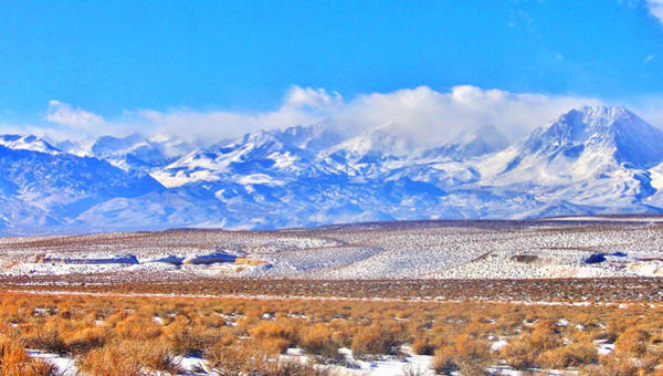 Bishop Hill Photograph - Snow In The Desert by Marilyn Diaz