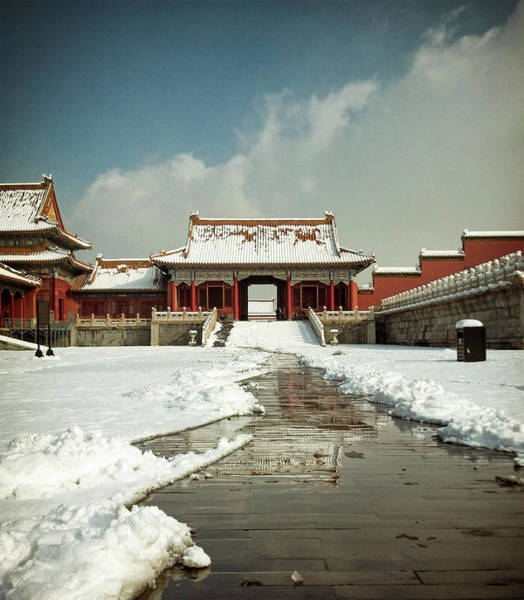 Forbidden City Photograph - Snow In The Forbidden City by Georgeclerk