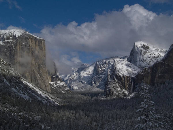 Yosemite Half Dome Wall Art - Photograph - Snow Kissed Valley by Bill Gallagher