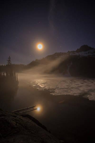 Alpine Photograph - Snow Lake Moondance by Mike Reid