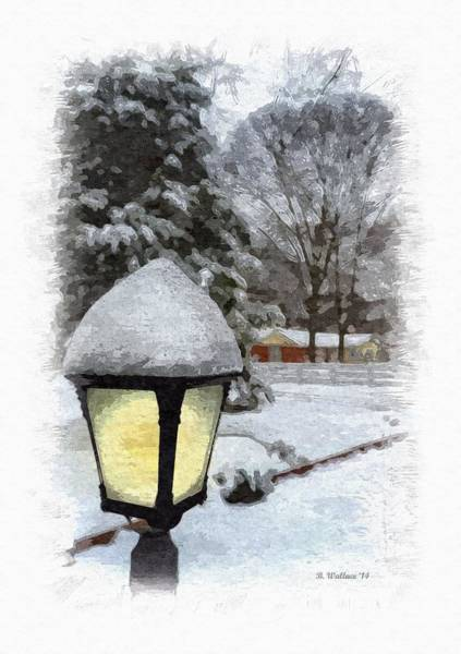 Sfx Photograph - Snow Lamplight - Paint Effect by Brian Wallace
