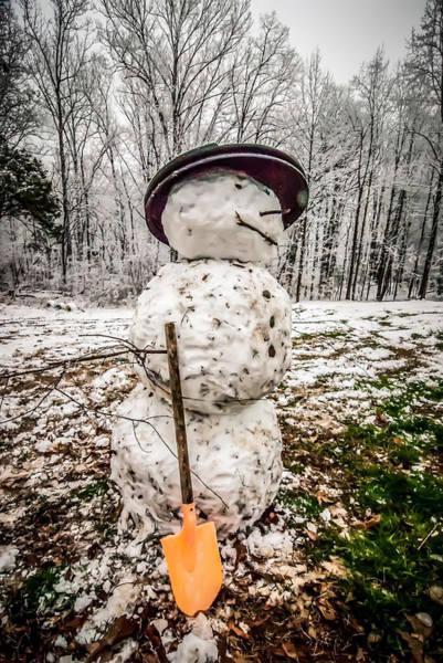 Photograph - Snow Man by Alex Grichenko
