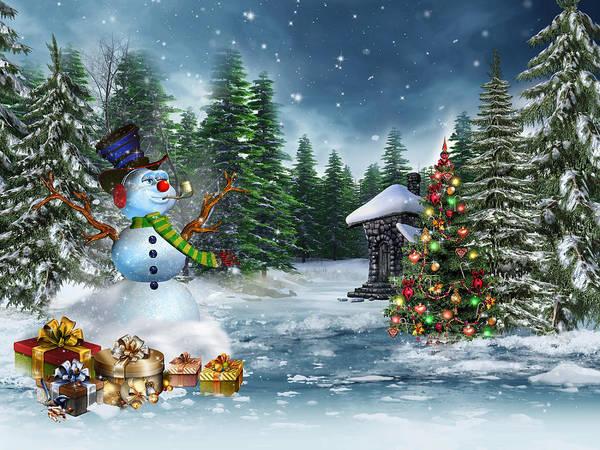 Photograph - Christmas Scene by Doc Braham