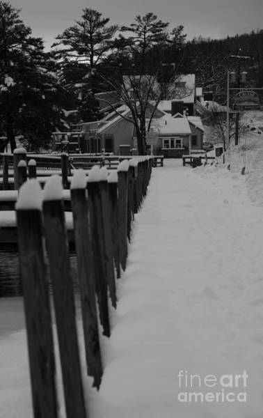 Photograph - Snow On The Docks by Michael Mooney