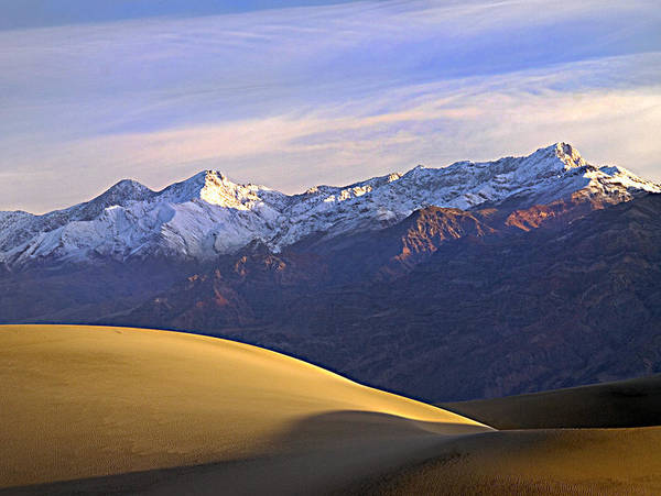 Death Valley Photograph - Snow On The Grapevine Range.  by Joe Schofield