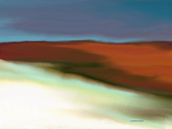 Wall Art - Painting - Snow On The Hill by Lenore Senior