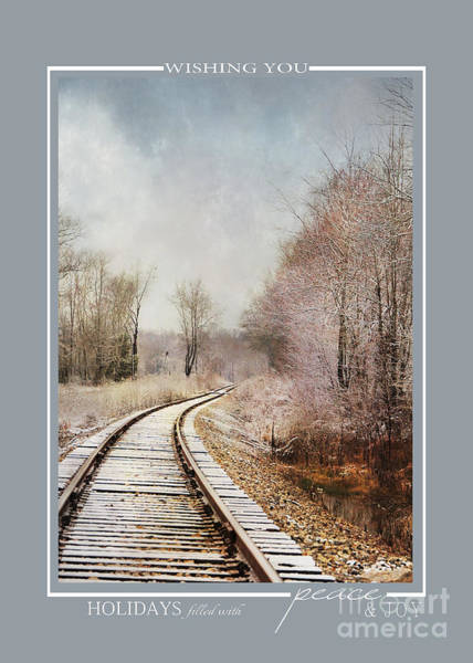 Photograph - Snow On The Tracks Winter Scene Christmas Cards by Jai Johnson