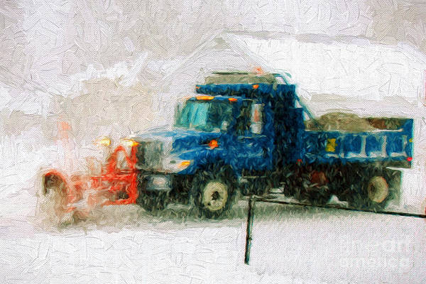 Photograph - Snow Plow Painterly by Andee Design