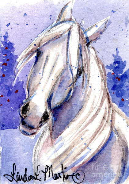 Painting - Snow Pony 3 by Linda L Martin