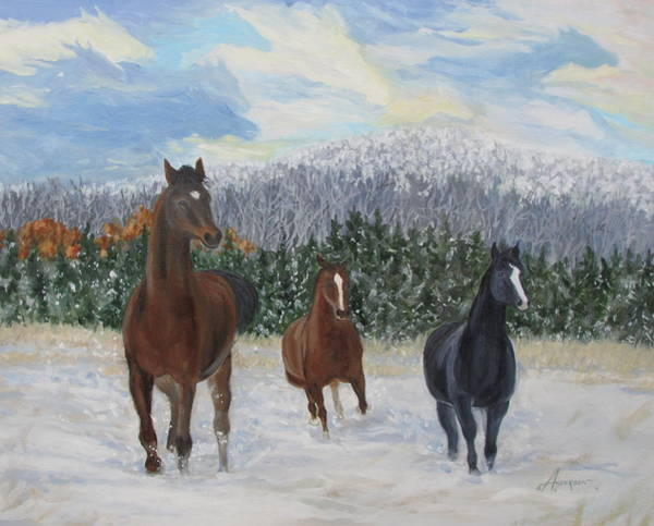 Painting - Snow Runners by Sherri Anderson