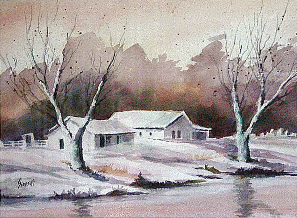 Painting - Snow by Sam Sidders