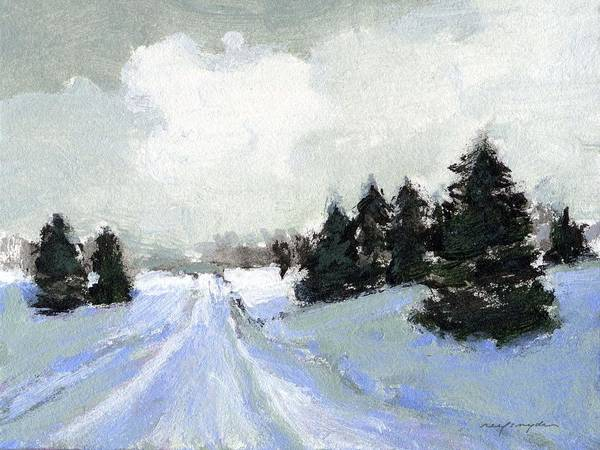 Painting - Snow Scene by J Reifsnyder
