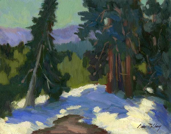 Sierra Nevada Painting - Snow Shadows Mammoth Mountain by Diane McClary