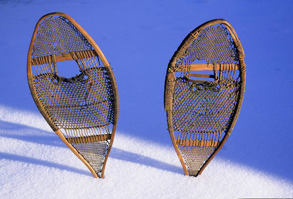 Snowshoe Photograph - Snow Shoes Were Used By Many Tribes by Angel Wynn