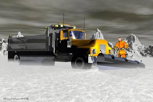 Speed Boat Digital Art - Snow Warrior by Michael Wimer