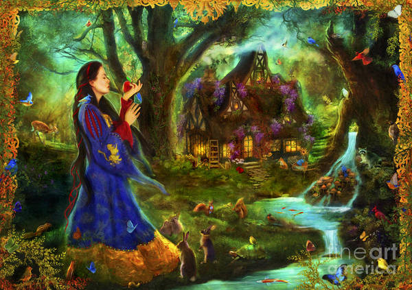 Aimee Stewart Wall Art - Digital Art - Snow White by MGL Meiklejohn Graphics Licensing
