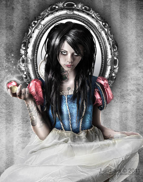 Snow Digital Art - Snow White by Judas Art
