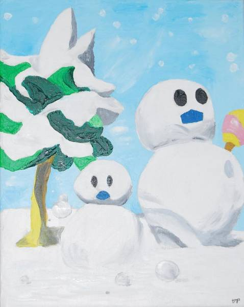 Videogame Painting - Snow by Yueping Song