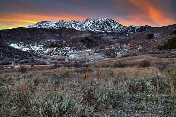 Photograph - Snowbasin Fire And Ice by Ryan Smith