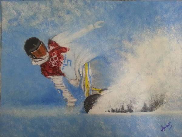 Painting - Snowboarder by Amelie Simmons