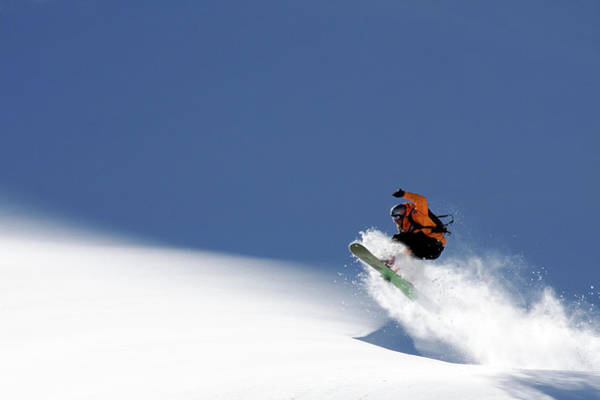 Crash Photograph - Snowboarder by Evgeny Vasenev