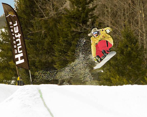 Wall Art - Photograph - Snowboarder Flies by Frank Savarese
