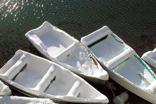Snowboats Art Print