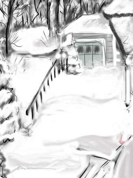 Digital Art - Snowbound by Jean Pacheco Ravinski