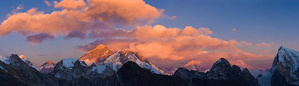 Gokyo Photograph - Snowcapped Mountain Peaks, Mt Everest by Panoramic Images