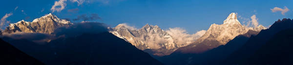 Khumbu Wall Art - Photograph - Snowcapped Mountains, Mt Everest, Ama by Panoramic Images