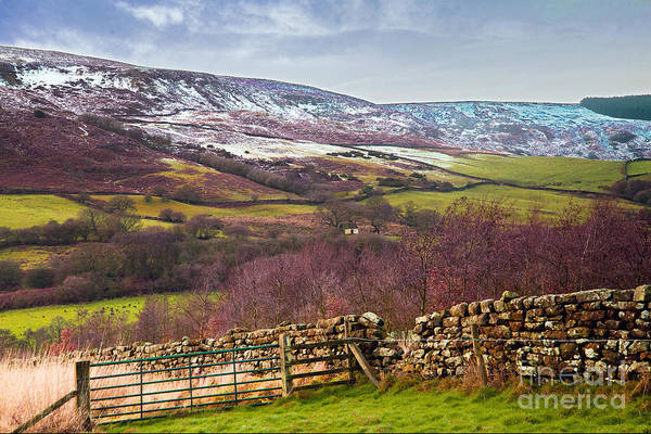 Snowcapped North Yorkshire Moors Art Print