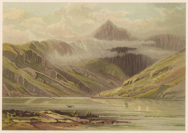 Wall Art - Drawing - Snowdon          Date 1879 by Mary Evans Picture Library