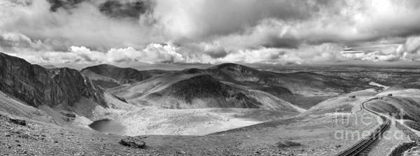 Carriage Photograph - Snowdonia Panorama In Black And White by Jane Rix