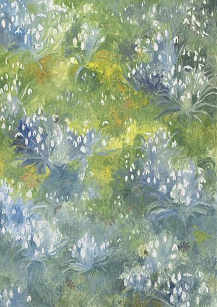 Snowdrop Painting - Snowdrops by Leigh Glover