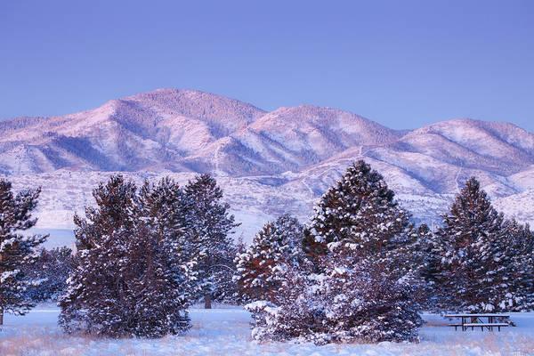 Photograph - Snowfall Sunrise by Darren  White